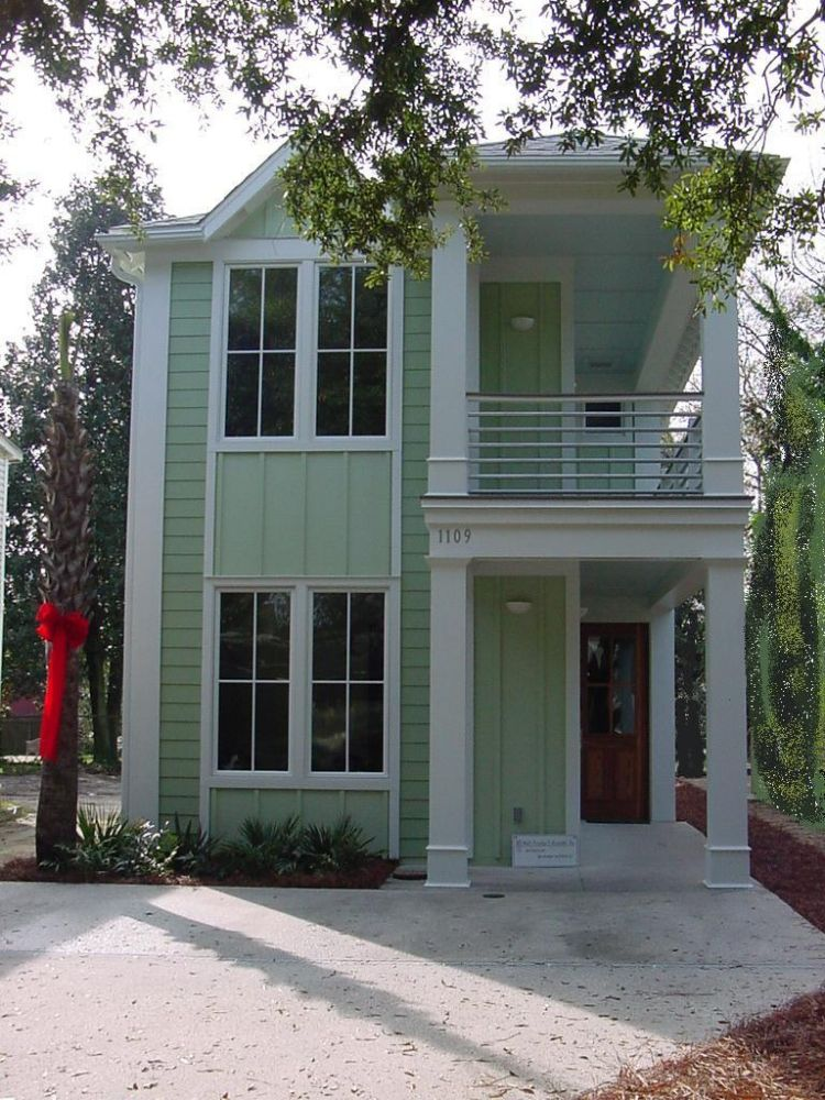 Georgetown Shotgun Style Home front - 38+ Front Design Of Small House Double Floor  Background